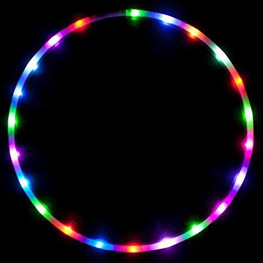 <+>  Спортивный обруч Съемный светящийся в темноте светодиодный обруч для фитнеса ①