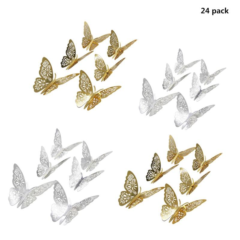 Kalender Ppyy Neue-12 Stücke/3d Hohl Schmetterling Wand Aufkleber Diy Home Decor Party Hochzeit Dekoration Eine Hohe Bewunderung Gewinnen