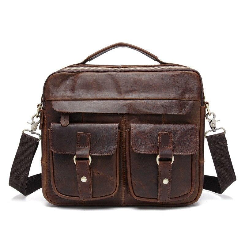 Genuine Leather Bag Men Handbag Designer Briefcase Men Messenger Bag S662-40 Cross Body Bags Vintage SatchelGenuine Leather Bag Men Handbag Designer Briefcase Men Messenger Bag S662-40 Cross Body Bags Vintage Satchel