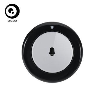 Digoo DG-HOSA bezprzewodowy dzwonek przycisk zdalny wykrywanie odległe 50m-70m dla inteligentnego bezpieczeństwo w domu systemy alarmowe zestawy tanie i dobre opinie CN (pochodzenie) wireless Dzwonki Baterii