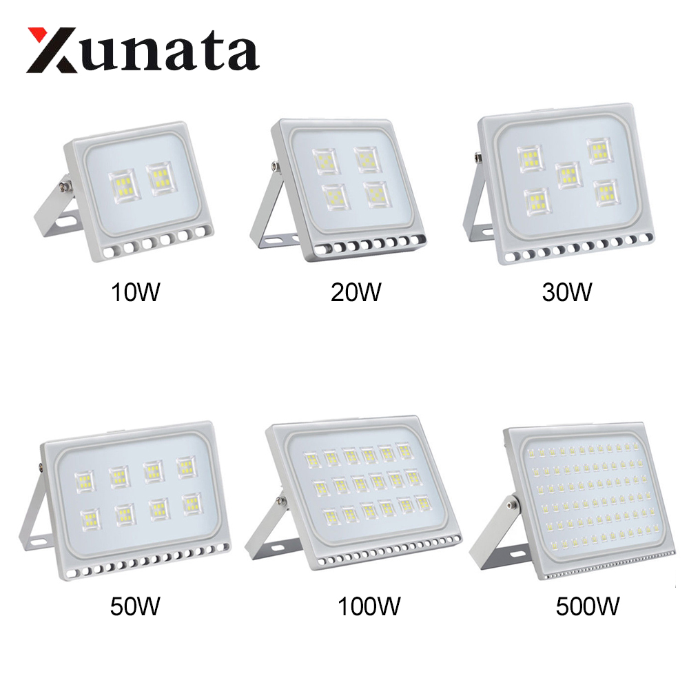 LED Spotlight Led Flood Light Outdoor 220V Waterproof Ip65 Floodlights Led Reflector Lighting 10W 20W 30W 50W 100W 200W 500W