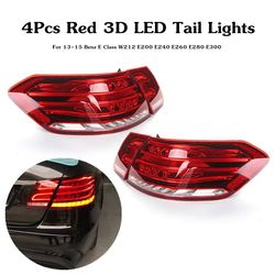 LED Tail Lights For Mercedes-Benz E Class W212 E350 E300 E250 E63 Sedan Lamps ABS 49x19cm Car Light Assembly Direct replacement