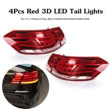 Светодиодный задние фонари для Mercedes-Benz e-класса W212 E350 E300 E250 E63 седан ламп ABS 49×19 см комплект для освещения автомобиля непосредственной замене