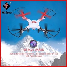 WLtoys V686G FPV RC Drones With HD Camera Wltoys V686 Dron Professional RC Quadcopters With Camera RC Flying Camera Helicopter jjrc h20w wifi fpv quadcopters with camera hd rc mini drones 6 axis rc dron flying helicopter remote control toys nano copters