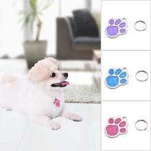 Foot Printed Shaped Pet Dog ID Name Tag Pet Dog Pendant Prevent Pets From Getting Lost Portable Identity Tag(China)