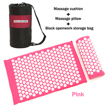 Body Head Foot Massager Cushion Pillow Acupressure Mat Relieve Stress Pain Acupuncture Spike Yoga With with Bag