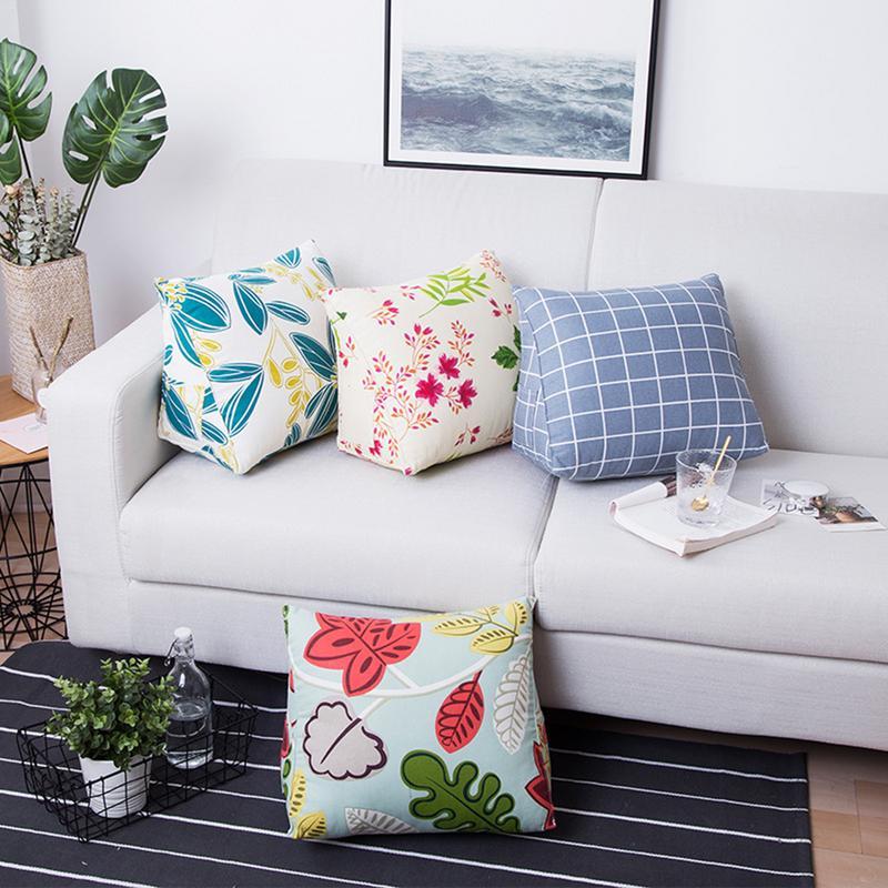 Triangle Waist Cushion Lumber Pillow Backrest Pad Office Sofa Decor Winter Warm