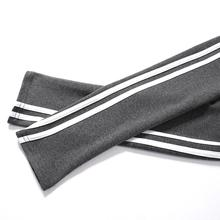 Autumn Women Slim Striped Pencil Pants High Casual Waist Ank