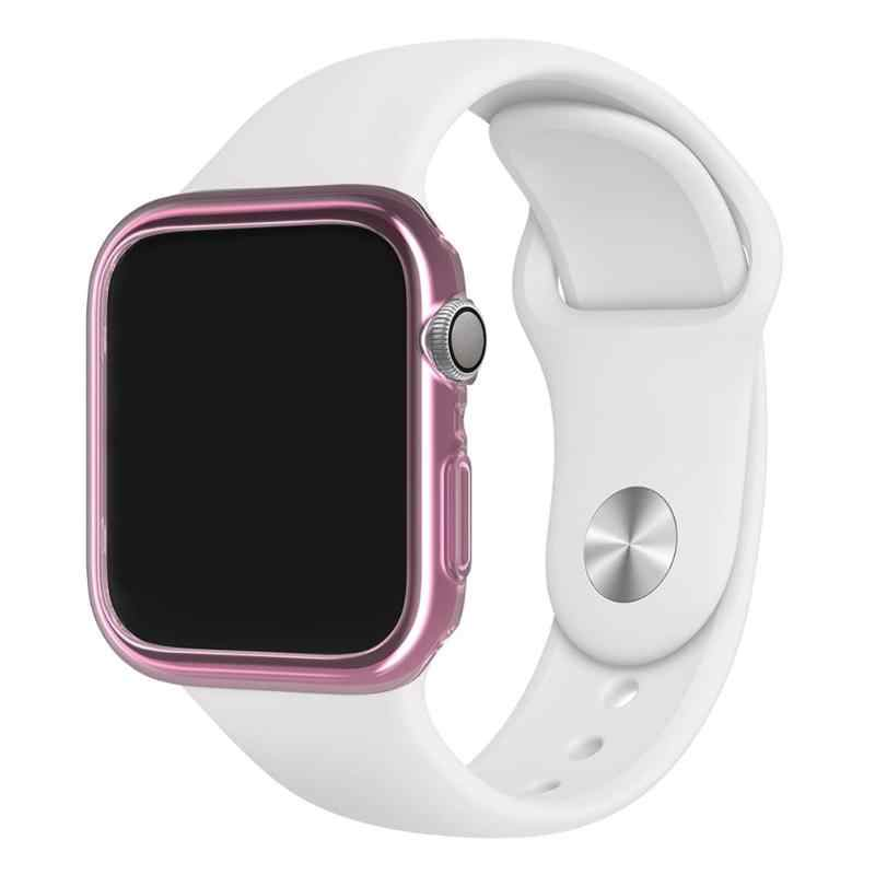 new concept 44dc0 07fdd Protector for Apple Watch Series 4 1pcs 44/40mm Band Waterproof TPU Full  Fitted Case Protective Cover for Apple Watch Series 4
