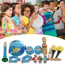 10 шт./компл. детский ударный Набор инструментов с случайным цветом и рисунком каждый предмет подарок тщательно выбран для детей