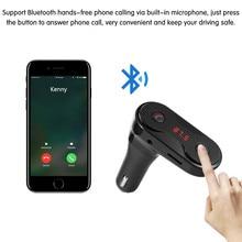 Hands Free Wireless Bluetooth FM Transmitter + AUX Modulator Car Kit MP3 Player TF SD USB LCD Accessories