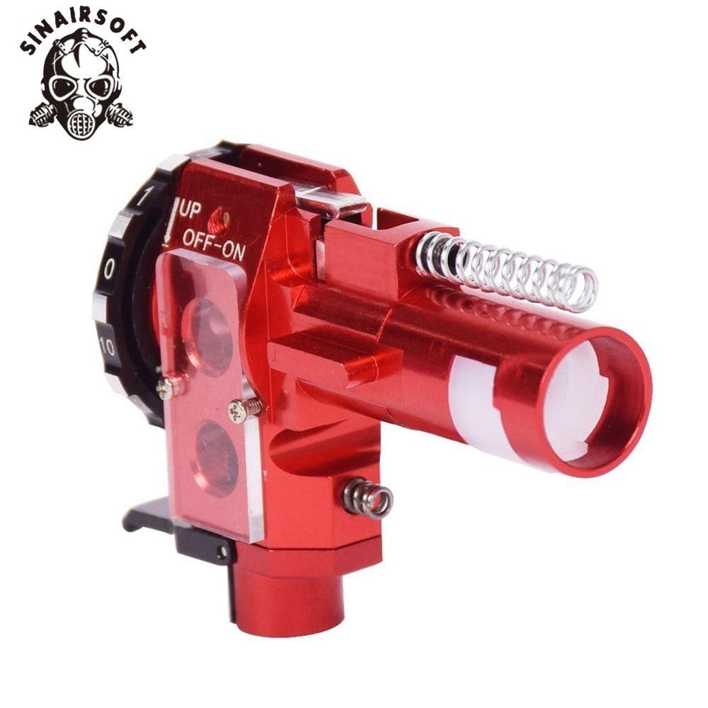 Tactique PRO AEG CNC aluminium rouge Hop Up chambre pour M4 M16 Airsoft chasse accessoires Paintball cible tir livraison gratuite