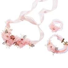 Цветок Девушки Корона цветочные венок-гирлянда запястье для свадебного праздника свадьбы