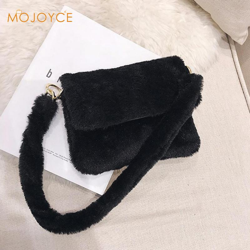 70044172ae40 Fashion Faux Fur Women Messenger Bag Luxury Winter Leopard Shoulder Bag  Casual Female Crossbody Bags Bolsa Feminina 2018-in Top-Handle Bags from  Luggage ...