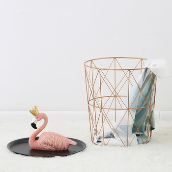 New Style  Bedroom Coffee Table Concise Iron Dirty Clothes Basket Home Furnishing Decoration Arts Laundry Basket coffee table