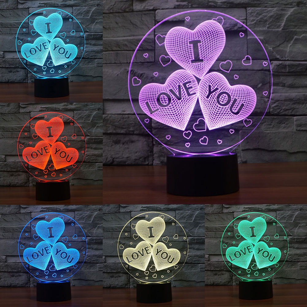 Gifts For Wedding Night: Gift Low Beam Durable Wedding Night Light 3D Love Heart
