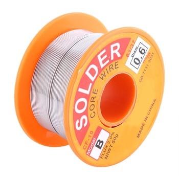 цена на 1Pcs Soldering Wire 63/37 Rosin Core Solder Wire Flux 2% Tin Lead Solder Iron Welding Wire Reel 0.6/0.8/1.0mm Best Price