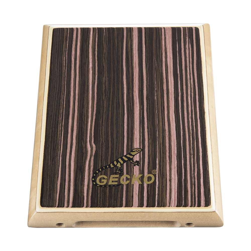 Gecko Percussion Pad-2 Zebra Wood Cajon Drum With Bag 290x45x235mm Matching In Colour Sports & Entertainment Drum