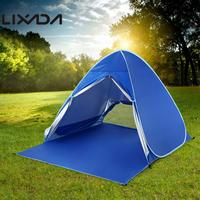 Lixada Waterproof Camping Outdoor Tent Automatic Instant Pop Up Beach Tent Cabin 2 Person Tent Lightweight UV Protection Shelter