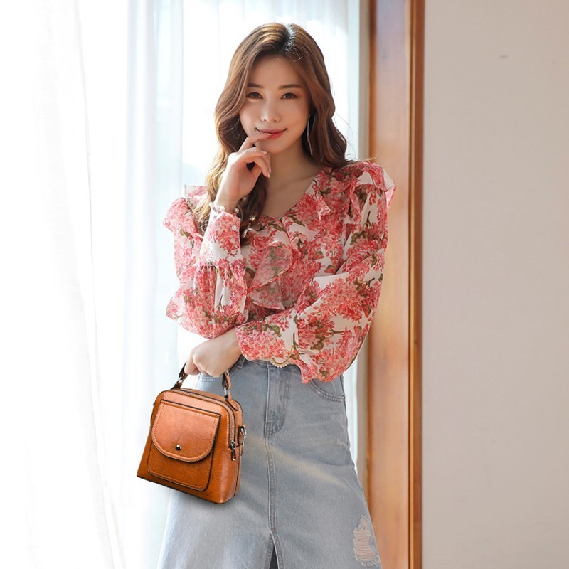 Image 4 - 2019 Small Crossbody Bag For Women Leather Shoulder Bags Bolsas Feminina Small Messenger Bags Female Sac A Main Ladies Bag NewTop-Handle Bags   -