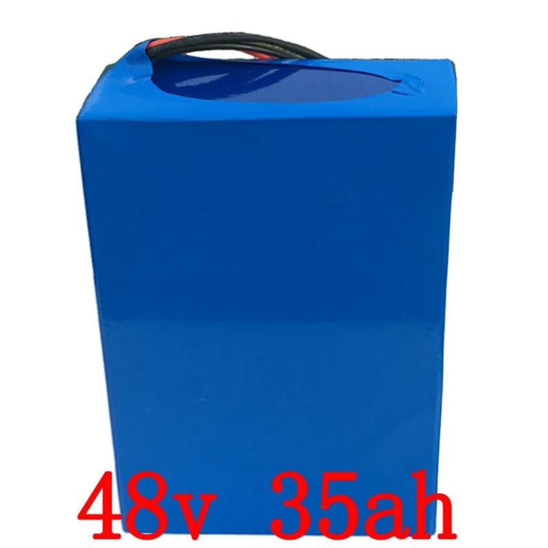 UE STATI UNITI NO Tax 48 v 35AH Batteria elettrica Della Bici 48 v 1500 w Batteria Al Litio Pack per 48 v bici elettrica con 30A BMS ED IL 54.6 v Caricatore