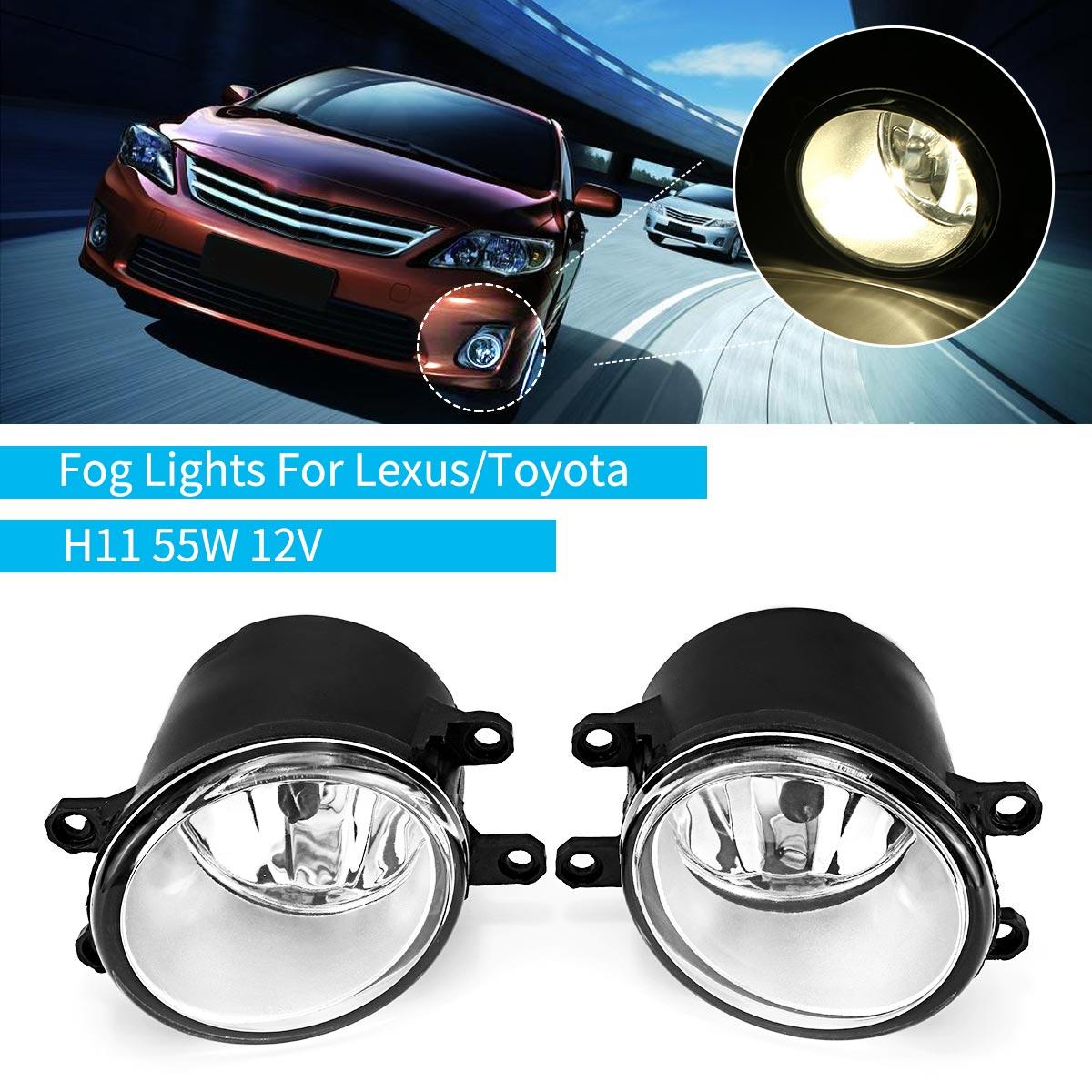 Für Toyota Corolla Yaris Camry 2007-2012 für Lexus RX450h CT200h 2008-2012 para 55 watt 12 v auto Front Nebel Lichter Lampe Mit H11 Lampen