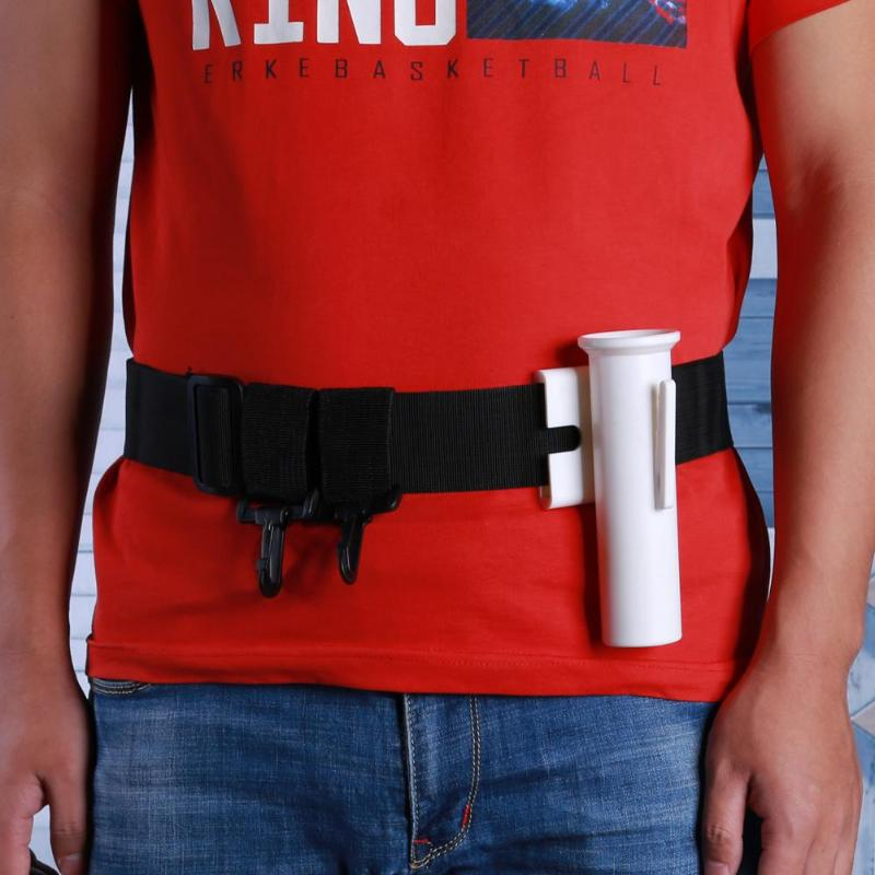 Durable Waist Gimbal Fishing Belt Adjustable Fishing Rod Holder Stand Gimble Fighting Belt Boat Fishing Rod Pole Fishing Tackle