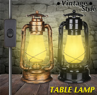 New 2 colors Vintage Metal & Glass Table Light Sconce Holder Colorful Lamp Fixture Dining Hall Bar Club Coffee Shop Restaurant