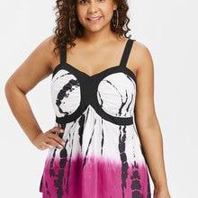 6d1b2f3f4fc8 Wipalo Women Plus Size 5XL Tie Dye Bustier Tank Top Sweetheart Neck Graphic  Empire Waist Casual
