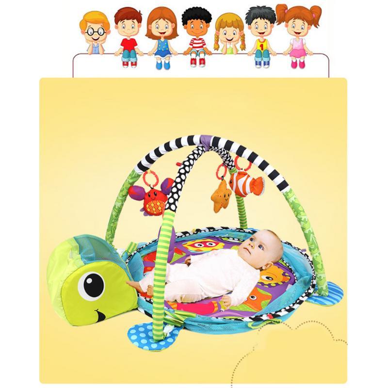 3-en-1 Bébé de Bande Dessinée Jouets Activité Gym Tapis de Jeu Enfants Jeu Jouer Activité Gym Infantile Étage Couverture éducatifs Gym