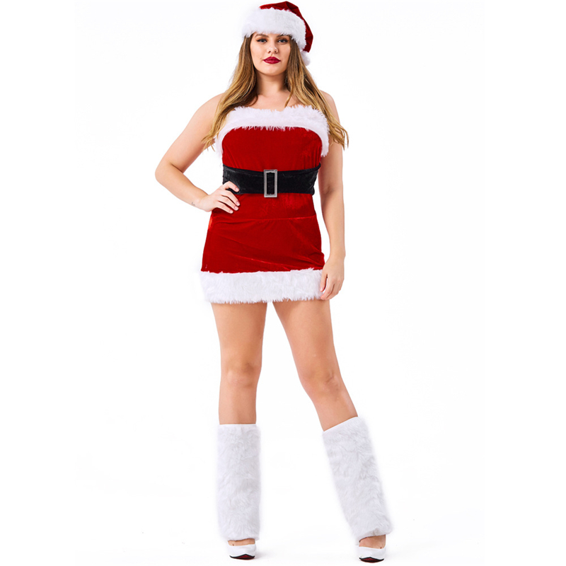 Plus Size Sexy Mrs Claus Costume Christmas Costume Cosplay Women
