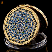 Восьмиугольная копия Рамадана Kareem, Саудовская Аравия, исламское золото, Коллекционная монета и праздничный подарок