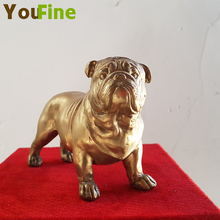 YOUFINE Bronze casting French bulldog suitable for dog lovers collection art sculpture indoor home decoration
