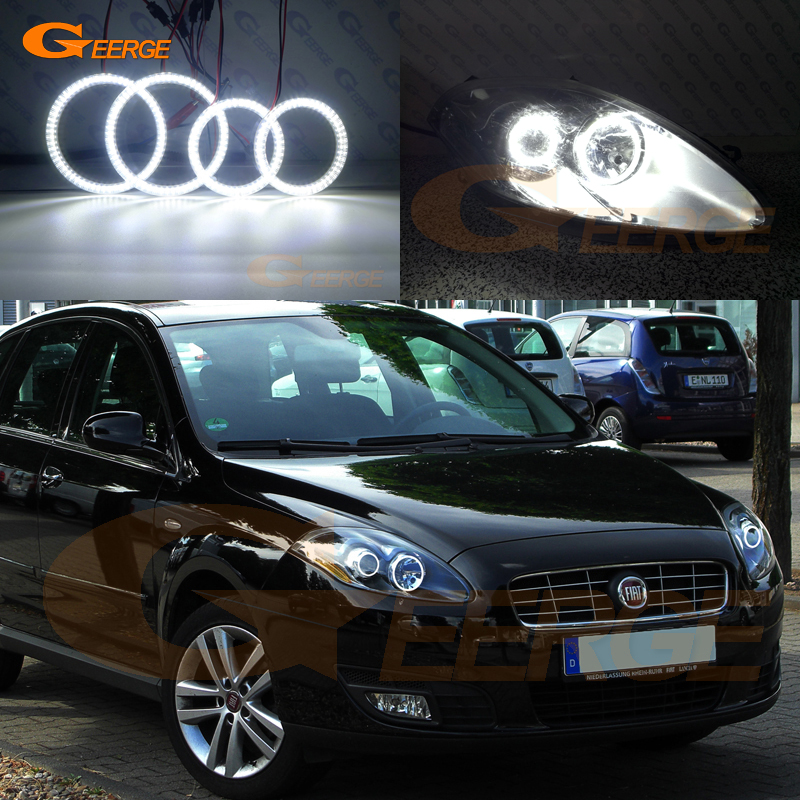 For Fiat Croma facelift 2008 2009 2010 2011 Excellent Ultra bright illumination smd led Angel Eyes