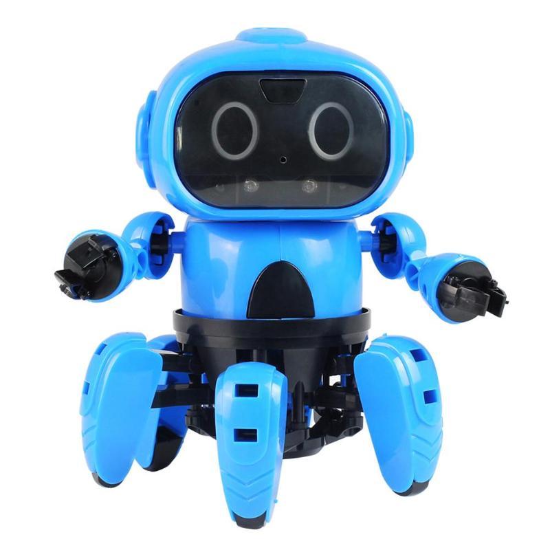 DIY Montage Elektro Intelligente Infrarot Induktion Fernbedienung RC Roboter Spielzeug Modell mit Folgenden Geste Sensor Hindernis Vermeidung