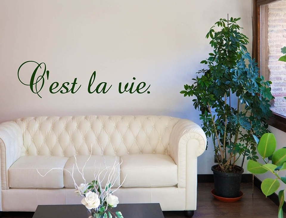 C est La Vie French Quotes Wall Decal French Wall Decor French Wall Art for Living 960x960