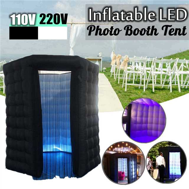 110 V/220 V 3. mx3.mx3. m hexagone Air cabine Photo professionnel gonflable RGB LED Photo cabine tente noir porte unique télécommande
