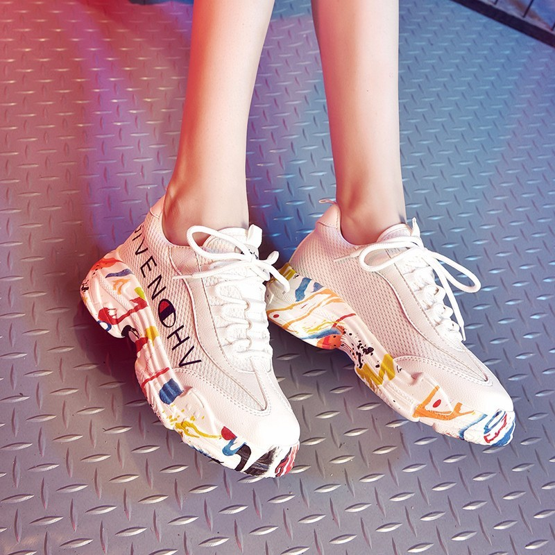 2018 Autumn Fashion Women Casual Shoes Suede Leather Platform Shoes Women Sneakers Ladies White Trainers Chaussure Femme winter women casual shoes suede platform plus velvet shoes women keep warm sneakers ladies white trainers chaussure femme c340