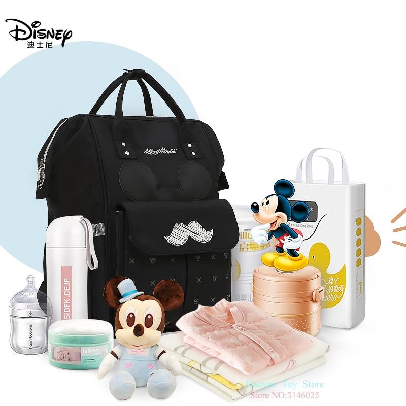 Sacs de maman authentique Disney | Isolation des biberons de bébé, sacs de maman multifonction voyage grande capacité Double épaule, paquet de grossesse