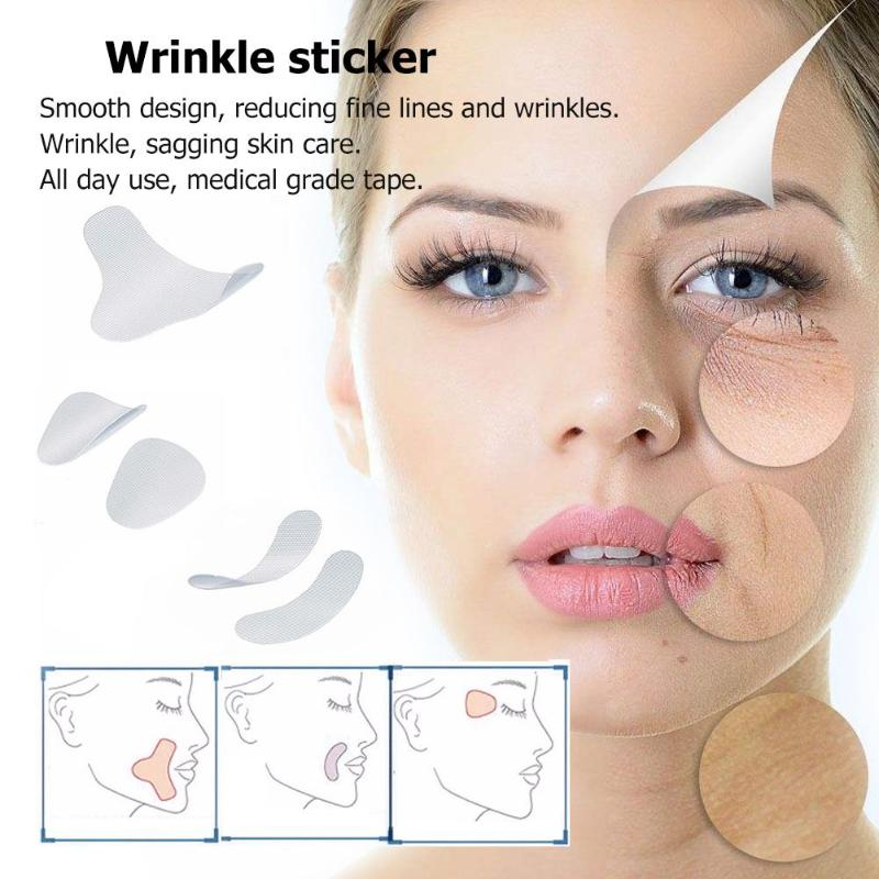 12/27/24pcs Thin Face Stickers EVA Anti-Wrinkle Patches Forehead Lift Tapes Skin Care Eye Care Makeup Accessories Tool
