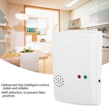 цена на Gas Detector Wall Mounting Type 220V High Sensitive LPG Alarm Monitor Natural Gas Sensor Household Gas Sensor EU Plug Best Offer