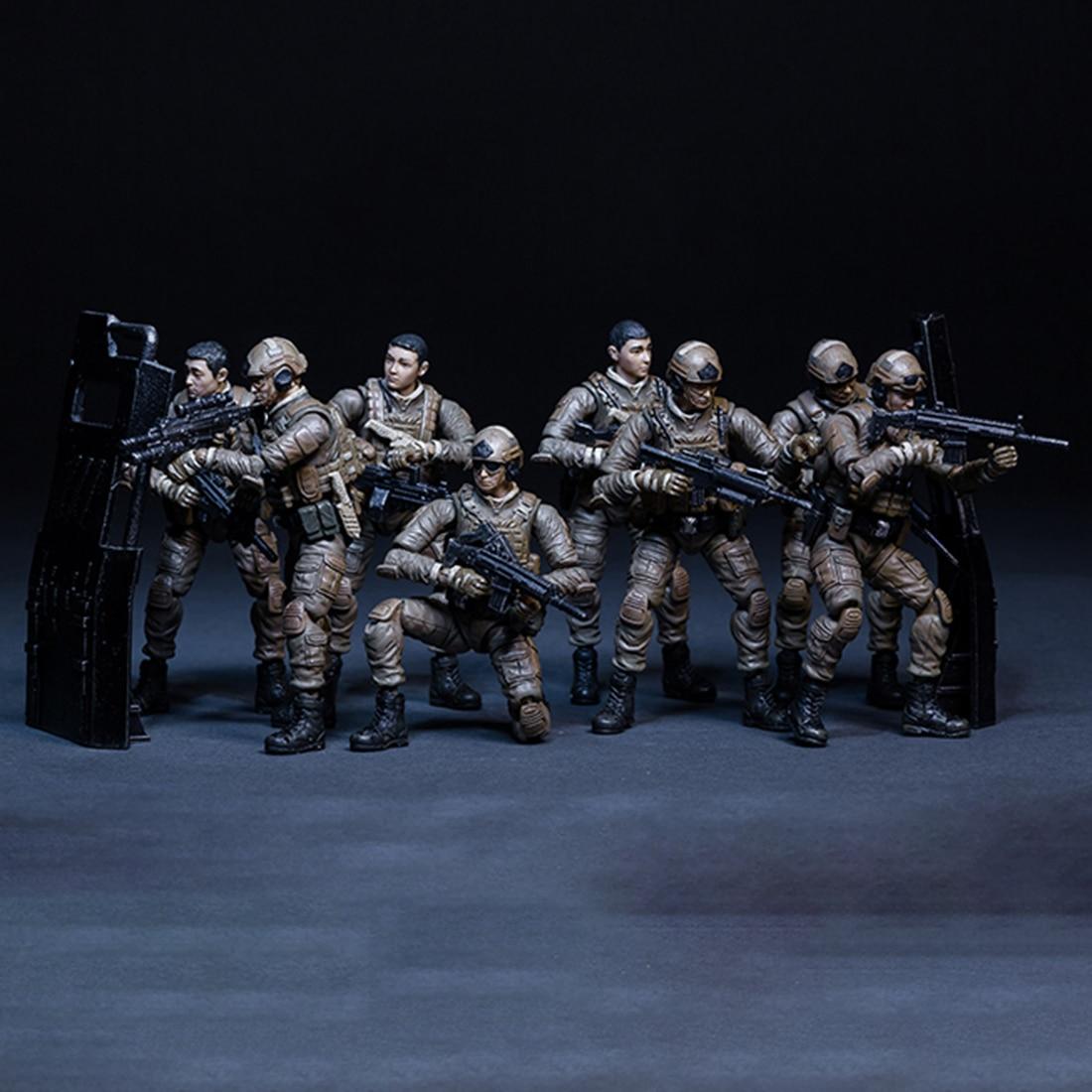 7.7 cm petit soldat modèle 3D assemblage amovible soldat modèle bricolage tige jouet amovible soldat modèle pour enfants-opération mer rouge