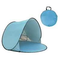 Automatic Pop Up Instant Portable Outdoors Beach Tent Sun Shelter Cabana with Carry Case & Stakes Toy Tents (Light Blue)