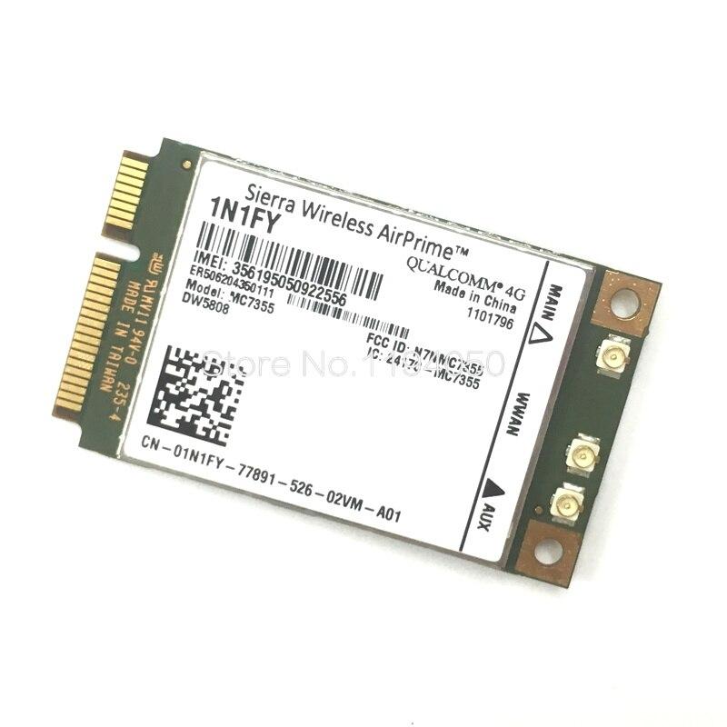 Networking Neue Original Drahtlose Airprime Mc7355 Pcie Lte/hspa Gps 100 Mbps Karte 1n1fy Dw5808 Sierra 4g Modul Für Dell 1900/2 100/850/70