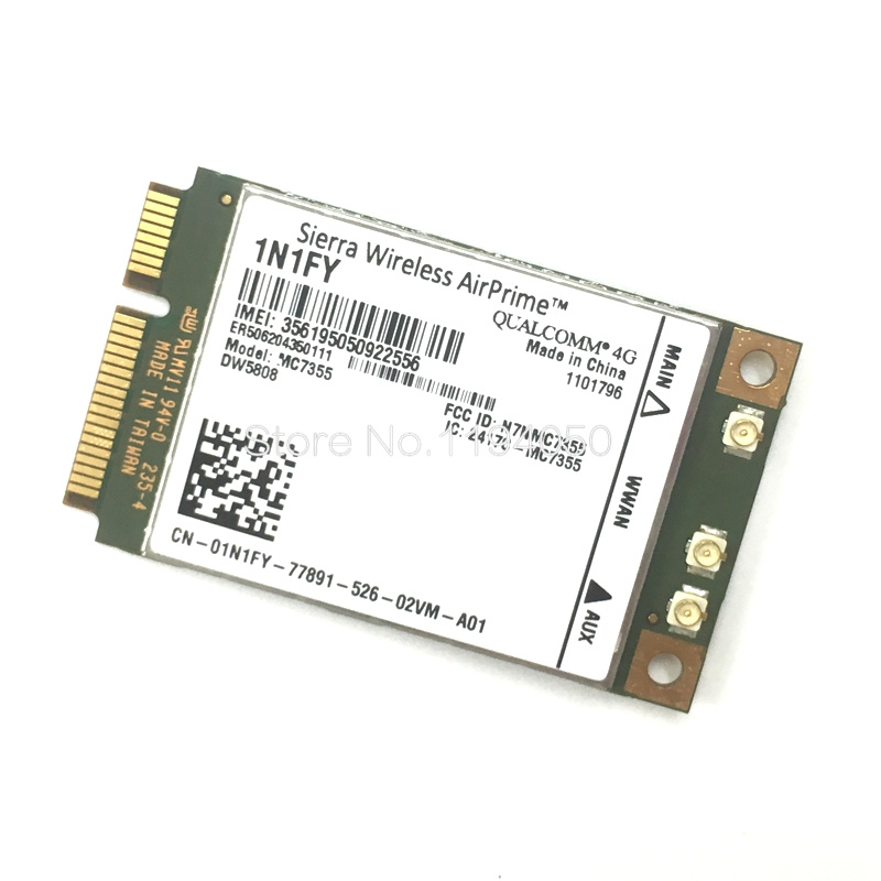 New Original Wireless Airprime MC7355 PCIe LTE / HSPA + GPS 100Mbps Card 1N1FY DW5808 Sierra 4G Module For Dell 1900/2100/850/70