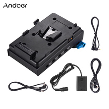 Andoer V Mount V lock Battery Plate Adapter with Clamp NP FW50 Dummy Battery Adapter for Sony A7 A7S A7R A7II A7SII A7RII A7III