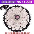 SUNSHINE MTB горный велосипед 9S кассеты свободного хода  9 скоростей  шатун со звездами для велосипеда  детали с резьбой 11-32 t36t40t42t50t