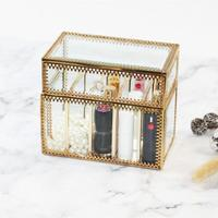 Glass Lipstick Storage Box Cosmetic Table Top Storage Box Lipstick Storage Rack Lipstick Holder
