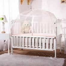 Portable Baby Crib Netting Baby Bed Cover Yurt Mosquito Mesh Cover Pop Up Tent Mosquito Net For Baby Room