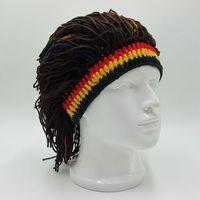 Hirigin 2019 забавная шляпа шапки-унисекс парик вязаные шапки ямайский трикотажные раста волос кепки для мужчин и женщин модная резинка для воло...